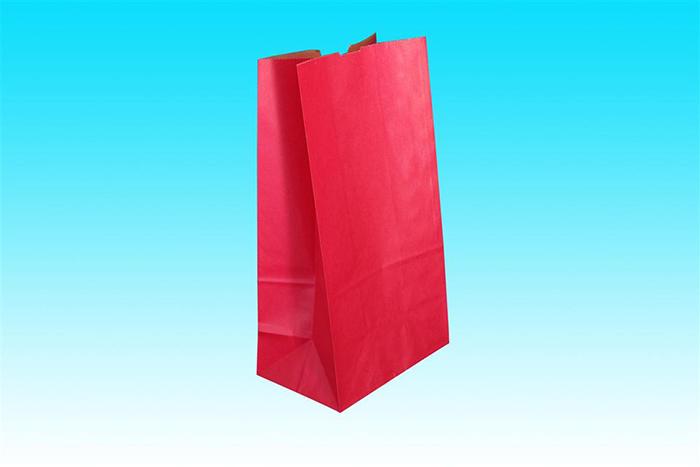 手提げ袋 一般的な平袋 片艶ニス引きタイプ