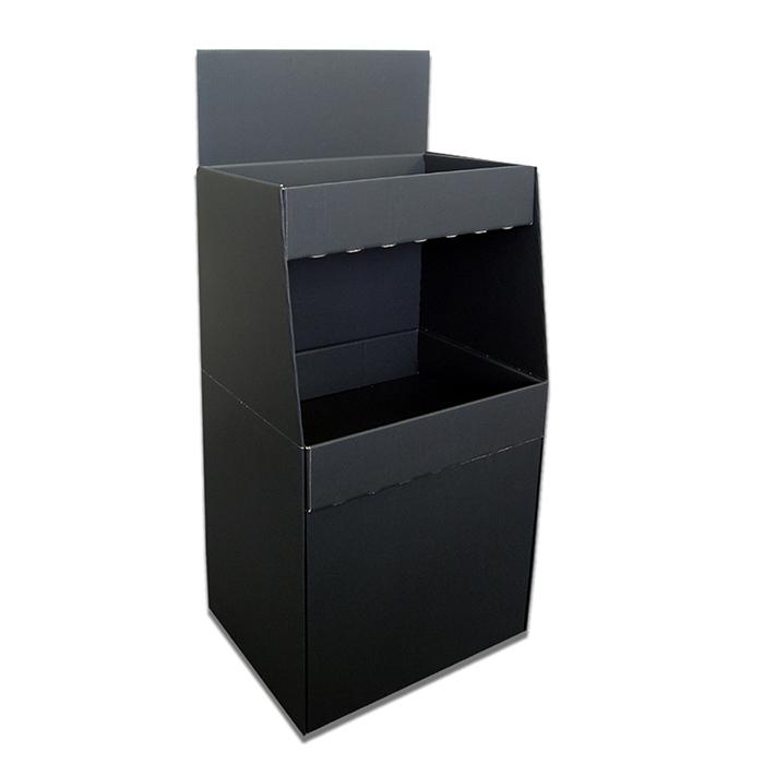 2段ボックスディスプレイ什器 PBX0001 黒無地