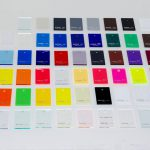POPディスプレイ用品へのオリジナルデザイン印刷 アクリル板色見本
