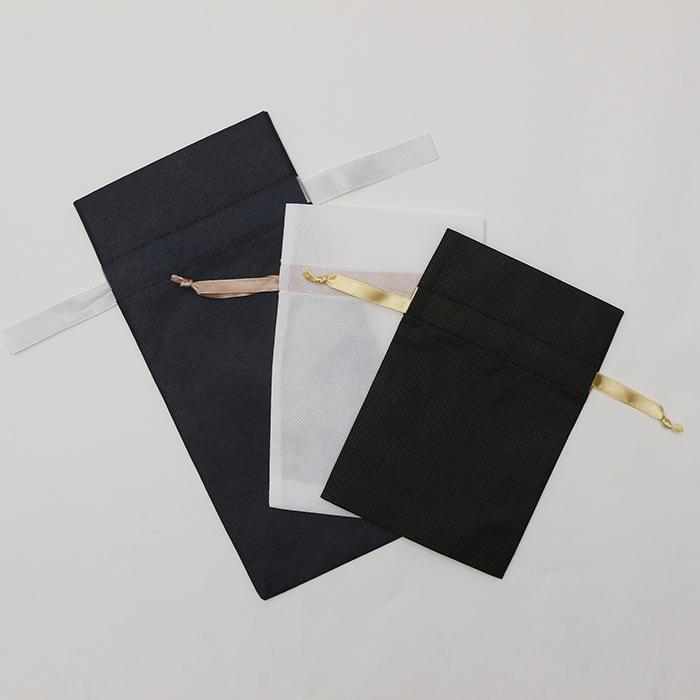 不織布 一般的な手提げ袋リボン付き